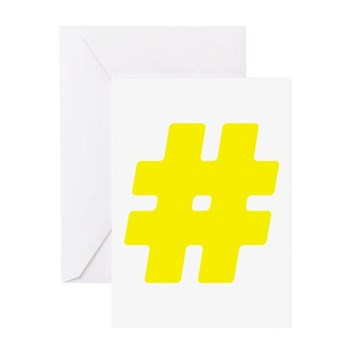 Yellow #Hashtag Greeting Card