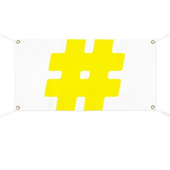 Yellow #Hashtag Banner