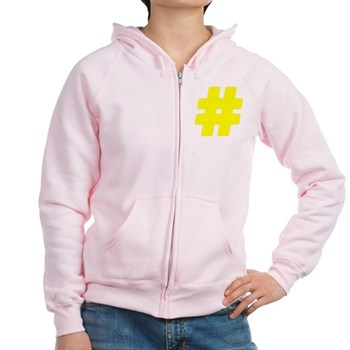 Yellow #Hashtag Women's Zip Hoodie
