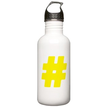 Yellow #Hashtag Stainless Water Bottle 1.0L