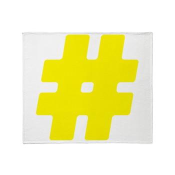 Yellow #Hashtag Stadium Blanket