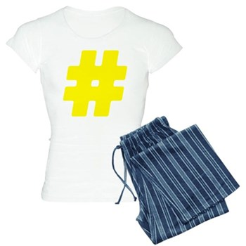 Yellow #Hashtag Women's Light Pajamas