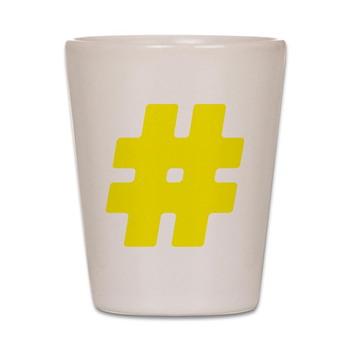 Yellow #Hashtag Shot Glass