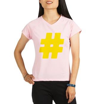 Yellow #Hashtag Women's Performance Dry T-Shirt