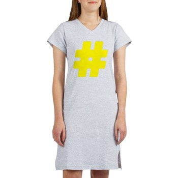 Yellow #Hashtag Women's Nightshirt