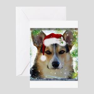 Handsome Holiday Corgi Greeting Cards