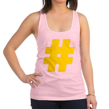 Yellow #Hashtag Racerback Tank Top
