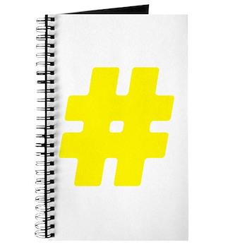 Yellow #Hashtag Journal