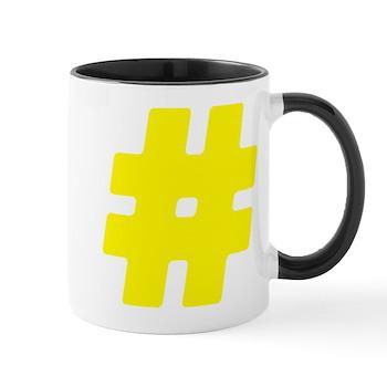 Yellow #Hashtag Mug