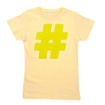 Yellow #Hashtag Girl's Tee