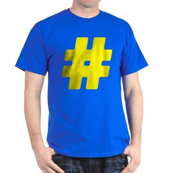 Yellow #Hashtag Dark T-Shirt