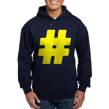 Yellow #Hashtag Dark Hoodie