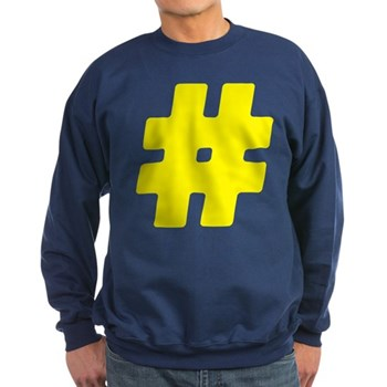 Yellow #Hashtag Dark Sweatshirt