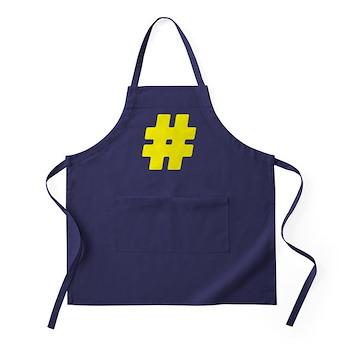 Yellow #Hashtag Dark Apron