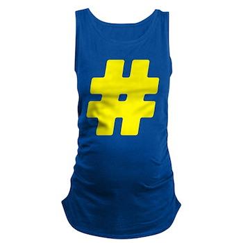 Yellow #Hashtag Maternity Tank Top