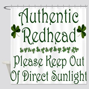 Authentic Redhead Shower Curtain