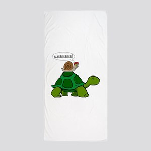 Snail on Turtle Beach Towel