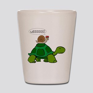 Snail on Turtle Shot Glass