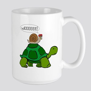 Snail on Turtle Mugs