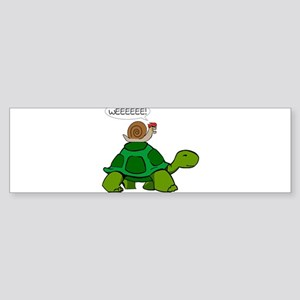 Snail on Turtle Bumper Sticker