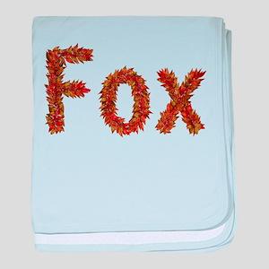 Fox Fall Leaves baby blanket