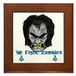 Zombie Beaters Framed Tile