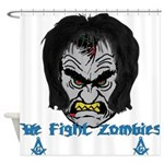 Zombie Beaters Shower Curtain
