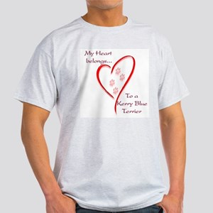 Kerry Blue Heart Belongs Ash Grey T-Shirt