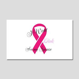 Editable I wear pink Car Magnet 20 x 12