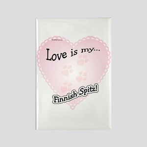 Love is my Finnish Spitz Rectangle Magnet