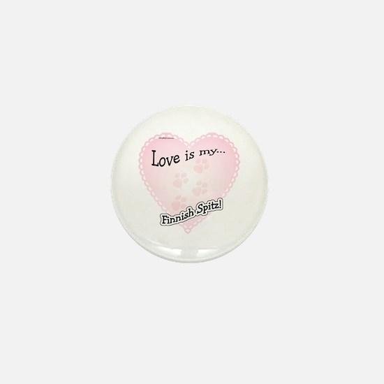 Love is my Finnish Spitz Mini Button