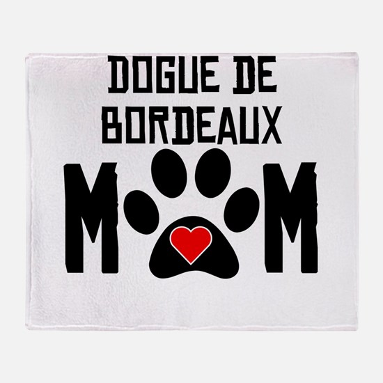 Dogue de Bordeaux Mom Throw Blanket