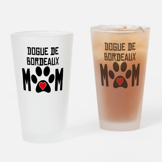 Dogue de Bordeaux Mom Drinking Glass