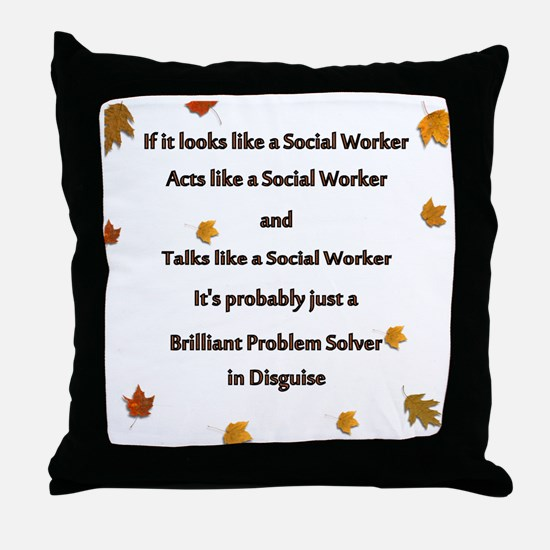 brilliant problem solver 2 Throw Pillow