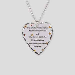 brilliant problem solver 2 Necklace Heart Charm