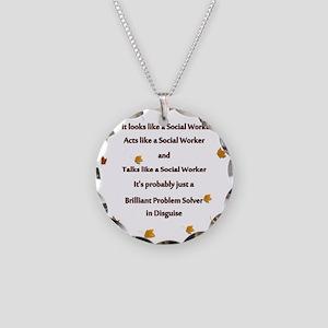 brilliant problem solver 2 Necklace Circle Charm