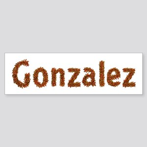Gonzalez Fall Leaves Bumper Sticker