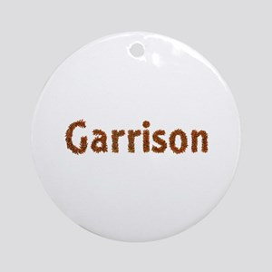 Garrison Fall Leaves Round Ornament