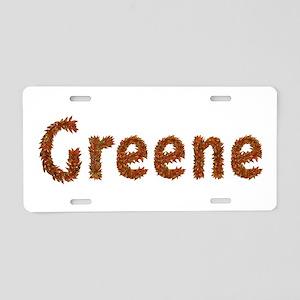 Greene Fall Leaves Aluminum License Plate