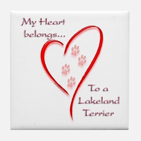 Lakeland Heart Belongs Tile Coaster