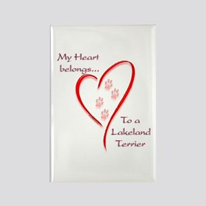 Lakeland Heart Belongs Rectangle Magnet