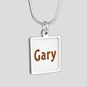 Gary Fall Leaves Silver Square Necklace