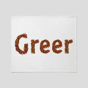 Greer Fall Leaves Throw Blanket