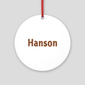 Hanson Fall Leaves Round Ornament