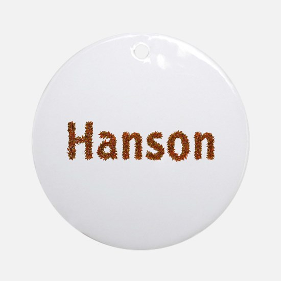 Hanson Fall Leaves Round Ornament