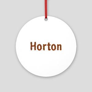 Horton Fall Leaves Round Ornament
