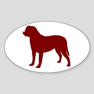 Just Bullmastiff (Red) Oval Sticker