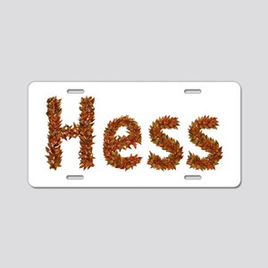 Hess Fall Leaves Aluminum License Plate
