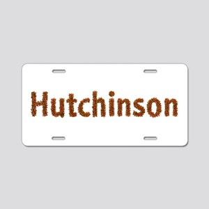 Hutchinson Fall Leaves Aluminum License Plate