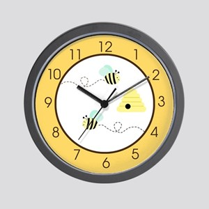 Bumble Bee Yellow Wall Clock